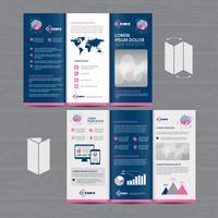 Tri-Fold Brochure Mock-up presentatie-indeling vector