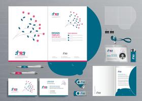 Zakelijk ontwerp map folder sjabloon voor digitale technologiebedrijf