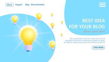 Beste idee voor uw blogbanner vector