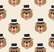 Hoofd teddybeer patroon