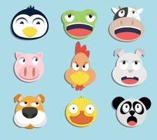 set van dierlijke gezichten