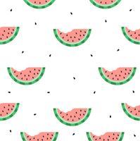 watermeloen bijten naadloos patroon vector