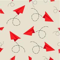 papieren vliegtuigjes patroon vector