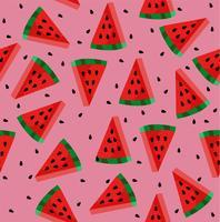 Watermeloen met zadenpatroon