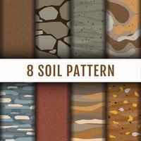 8 Soil Horizon patroon achtergrond set collectie vector