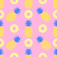 Popart ananas naadloze patroon vector