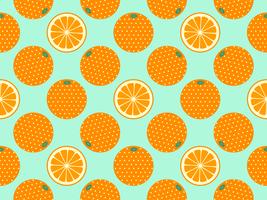 Oranje Fruit Pop Art Vector Achtergrond