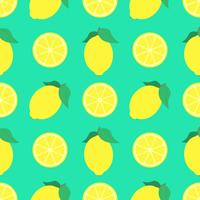 Zomer citroenen naadloze patroon achtergrond vector