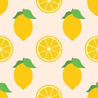 Verse citroenen zomer naadloze achtergrond vector