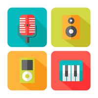 Geluid muziek pictogrammen vector