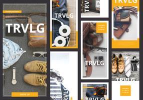 Mode Instagram-verhaalsjabloon klaar voor gebruik vector