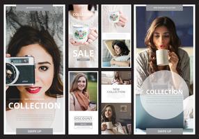 Mode Instagram-verhaalsjabloon klaar voor gebruik
