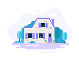 Huis met tuin.