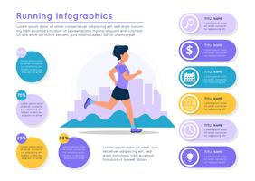 Lopende infographics. vector