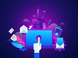 Marketingtechnieken. vector