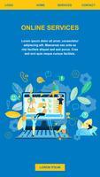 Online service Winkelen op internet vector