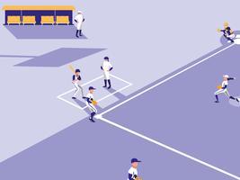 honkbalspel scene vector