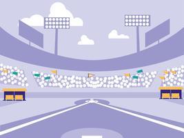 honkbalstadion vector