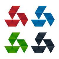Visiepictogrammen met gradiënt driehoekspatronen vector
