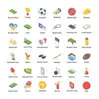 Set van sport iconen pack vector