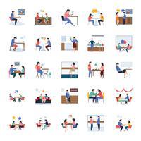 Restaurant en vergaderingen Icon Pack vector