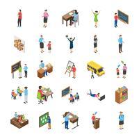 Hogeschool en universiteit studenten plat pictogrammen pack