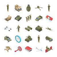 Militaire, speciale strijdkrachten en leger Icons Set