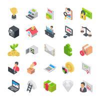 Pack van zakelijke pictogrammen vector
