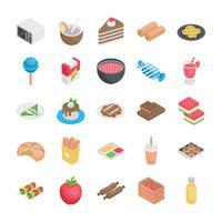 Beste eten plat pictogrammen vector