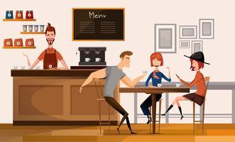coffeeshop vergadering vector