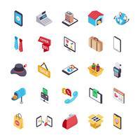 Pictogrammen voor online winkelen en betalen vector