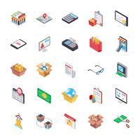 Beste online winkelen Icon Pack vector
