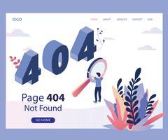 Pagina 404 Niet gevonden vector