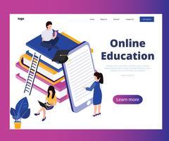 Online mobiele onderwijsleerplatforms vector