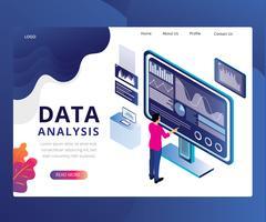 Webpagina met isometrische gegevensanalyse