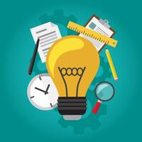Lamp idee vector