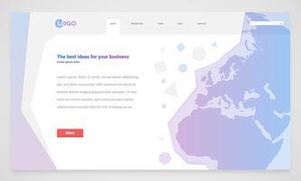 Schoon en modern websitemalplaatje, vectorillustratie