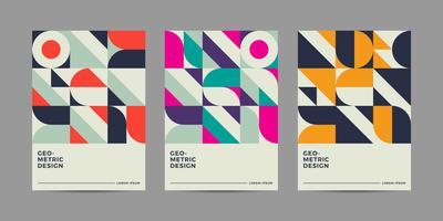 Retro geometrisch ontwerp