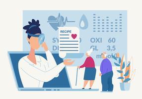 Reclame Poster Geneesmiddelformuleringen Cartoon vector