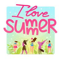 Sport Flyer uitnodiging I Love Summer