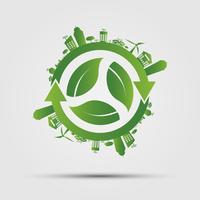 Ecologie concept. Red de wereld. vector
