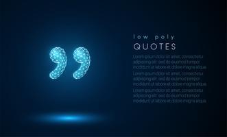 Abstracte 3D-citaten. Laag poly-stijl ontwerp.