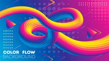 Vloeibare kleurverloop Achtergrond, vloeistofverloop