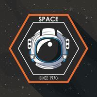 Space explorer patch embleemontwerp
