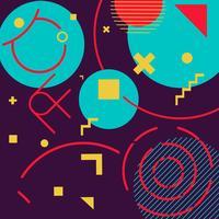 Funky geometrische vormen Memphis hipster achtergrond vector