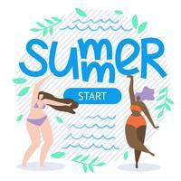 Geschreven zomer Start Flat