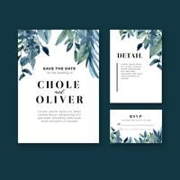 Bruiloft kaart bloementuin uitnodigingskaart vector