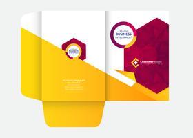 Abstracte ontwerp presentatiemap