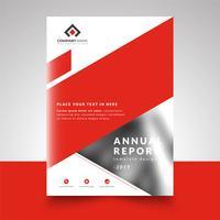 Rode abstract zakelijke ontwerpsjabloon jaarverslag