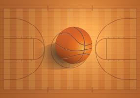 Realistisch basketbalveld vector